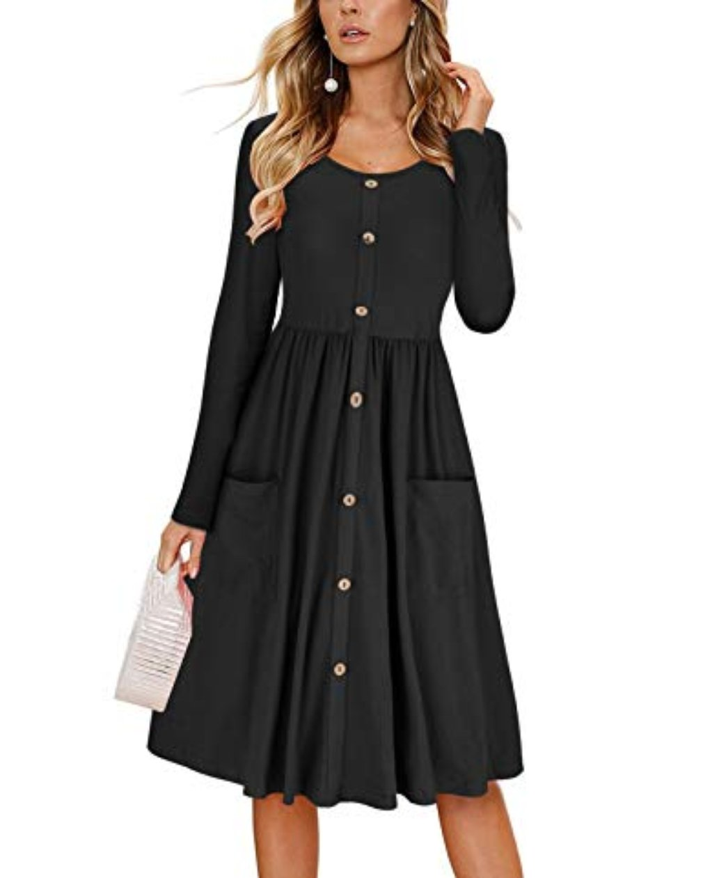 Fashion Womens Denim Dress Summer Long Sleeve Casual Loose Tops Mini Shirt Dress