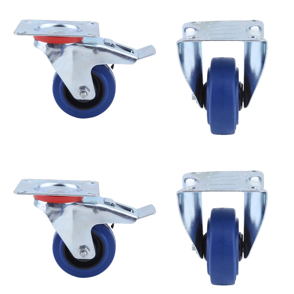 transportrollen bockrollen schwerlastrollen mit bremse blue wheel 80 100 125 mm ebay. Black Bedroom Furniture Sets. Home Design Ideas