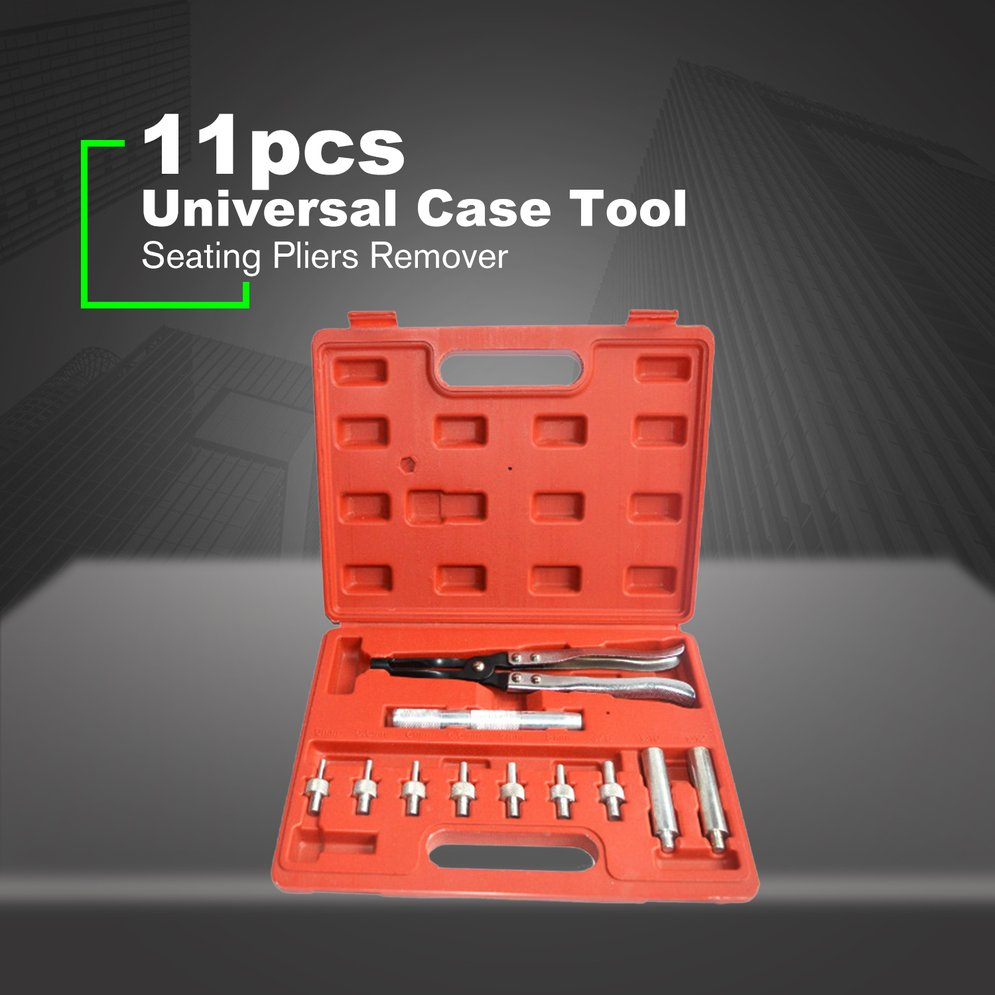 Valve Stem Seal Seating Remover Installer Pliers Tool Kit with Plastic Case