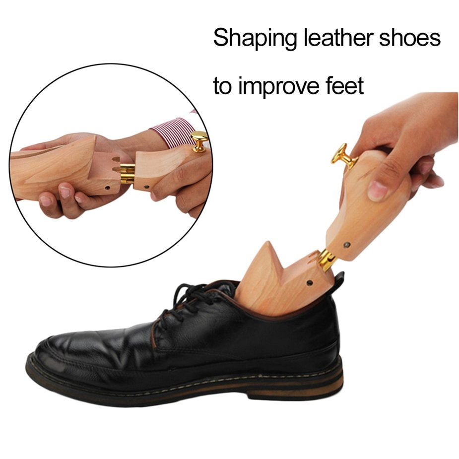 Adjustable Wooden Shoe Trees Stretcher Anti Wrinkle And