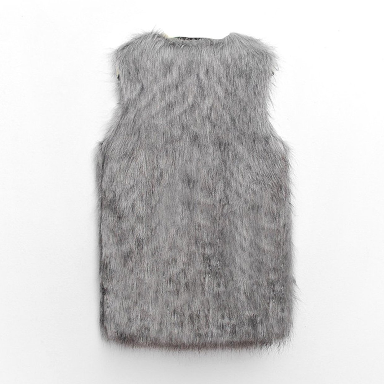 9706b74a7479 Generic TB Ladies Faux Fur Sleeveless Vest Waistcoat Gilet Wrap Shrug  Jacket Coat Outwear light gray