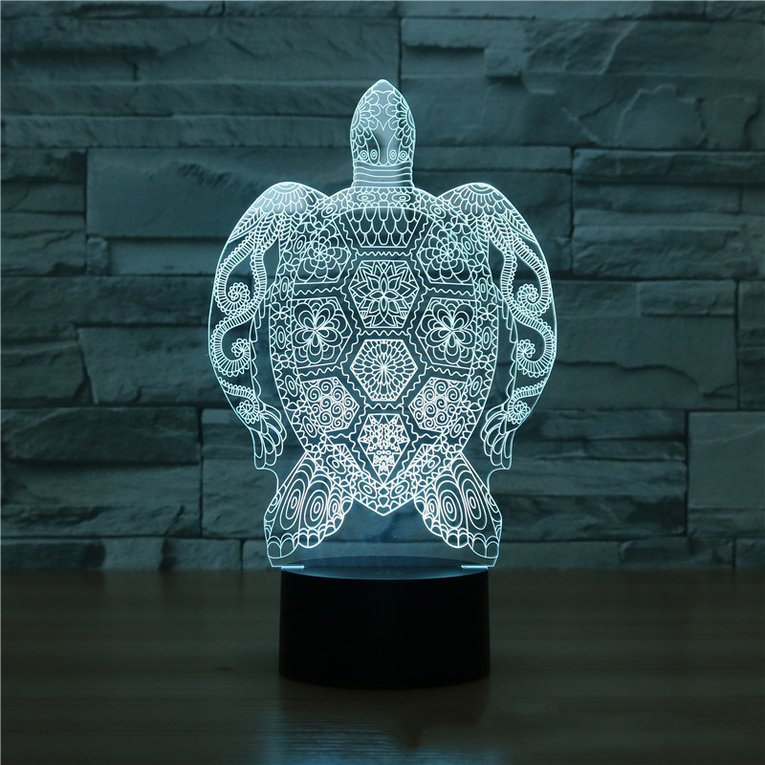 Sea Turtle Shape Touch Table Lamp 7 Colors Changing Lamp 3d Led