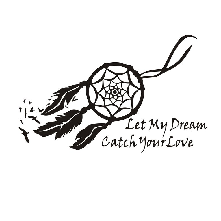 wall decals dream catcher sticker let my dream bedroom quote mural