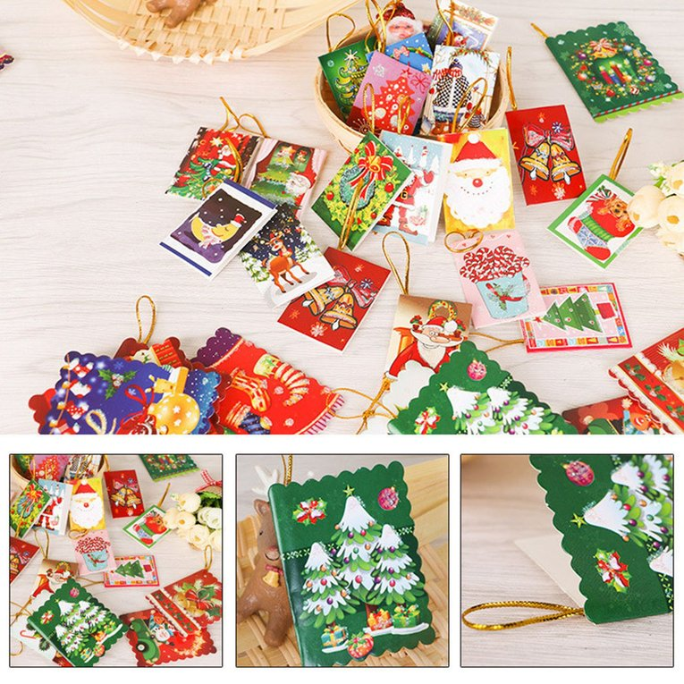 10pcsbag unique christmas greeting cards colorful pattern christmas card zw