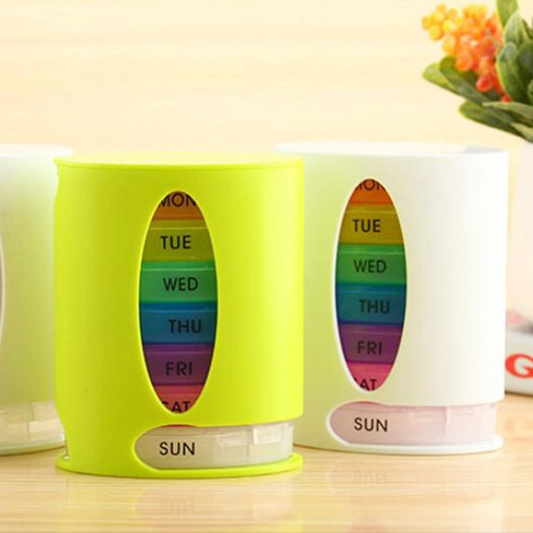 Seven Day Large Pill Box Medicine Tablets Holder Dispenser Pills