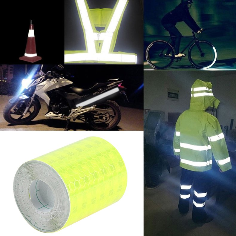 Auto Car Night Reflective Conspicuity Sticker Safety Tape Warning Sign Strips