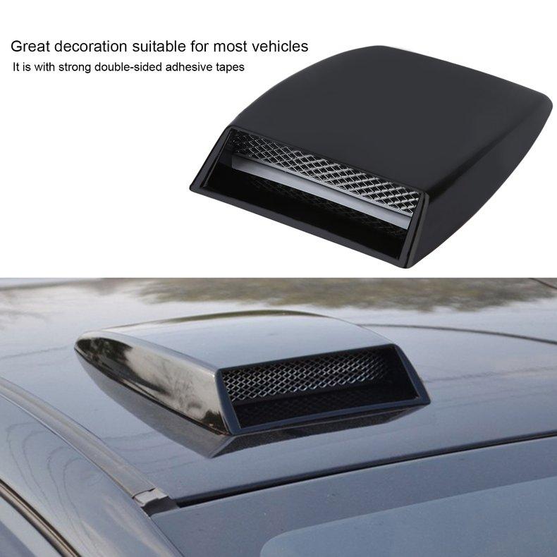 Car Auto Black Plastic Decorative Air Flow Vent Cover Hood