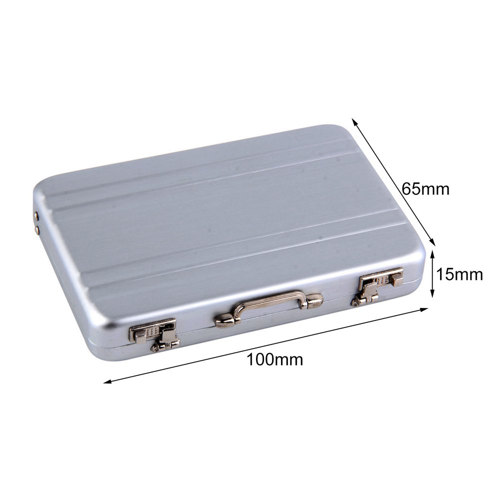 1pc Cool Aluminum Briefcase Business Card Credit Card Holder Case ...