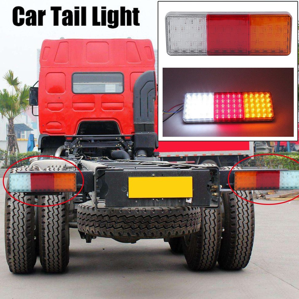 2x 12v 75 Led Tail Lights Ute Trailer Caravan Truck Boat Stop Accessories And Super Bright Leds Indicator Au Ag