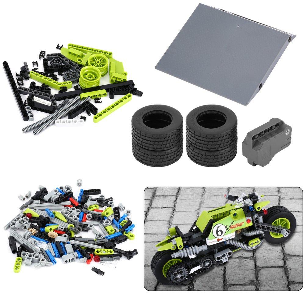 Biozea 201pcs Technic Building Blocks Set Motorcycle Toy DIY Assembly Toy