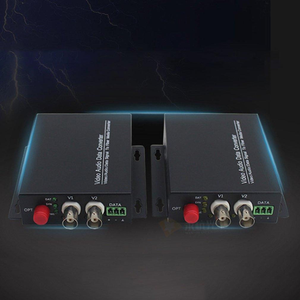 Details about 2Ch 8 bit Digital Video/Audio/Data Optical to fiber converter  transmitter SH