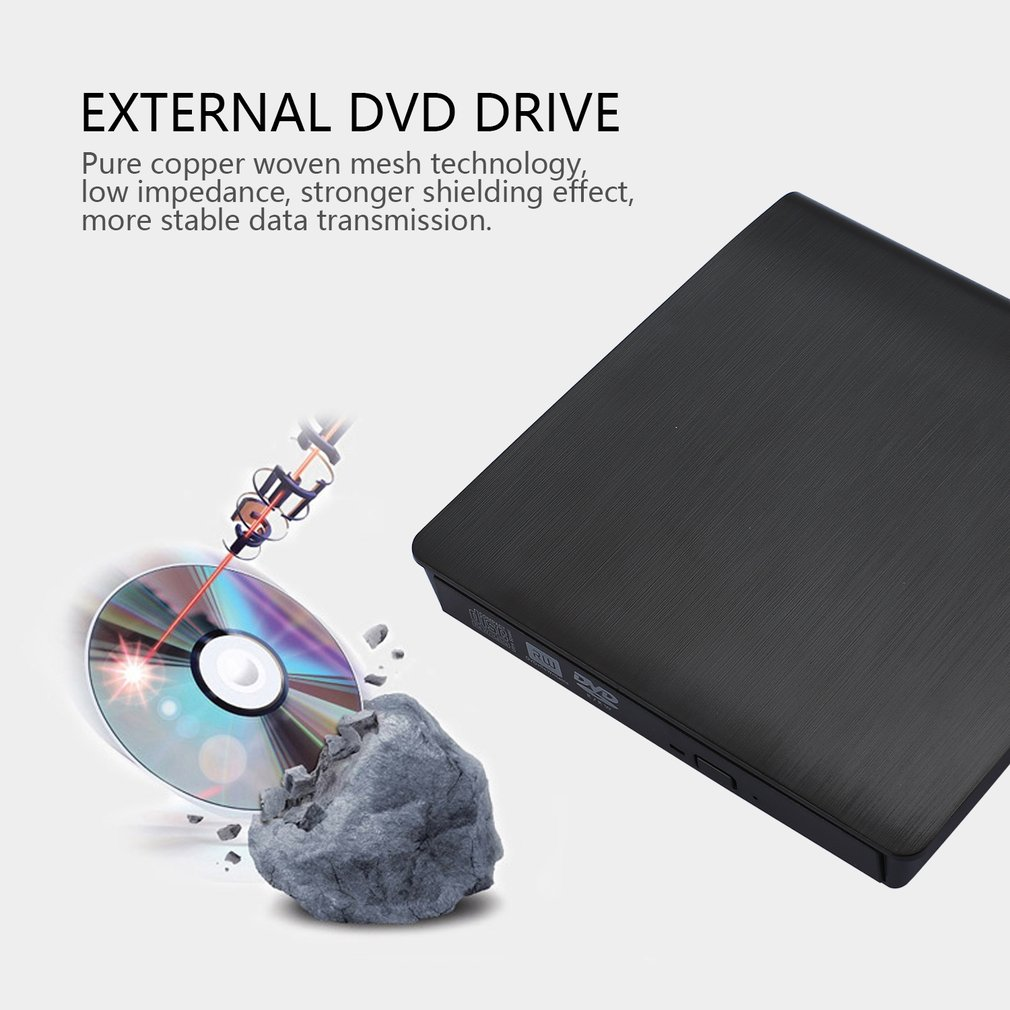 Usb 30 Portable Slim External Dvd Rw Cd Drive Writer M Tech Writercopierreader Hp