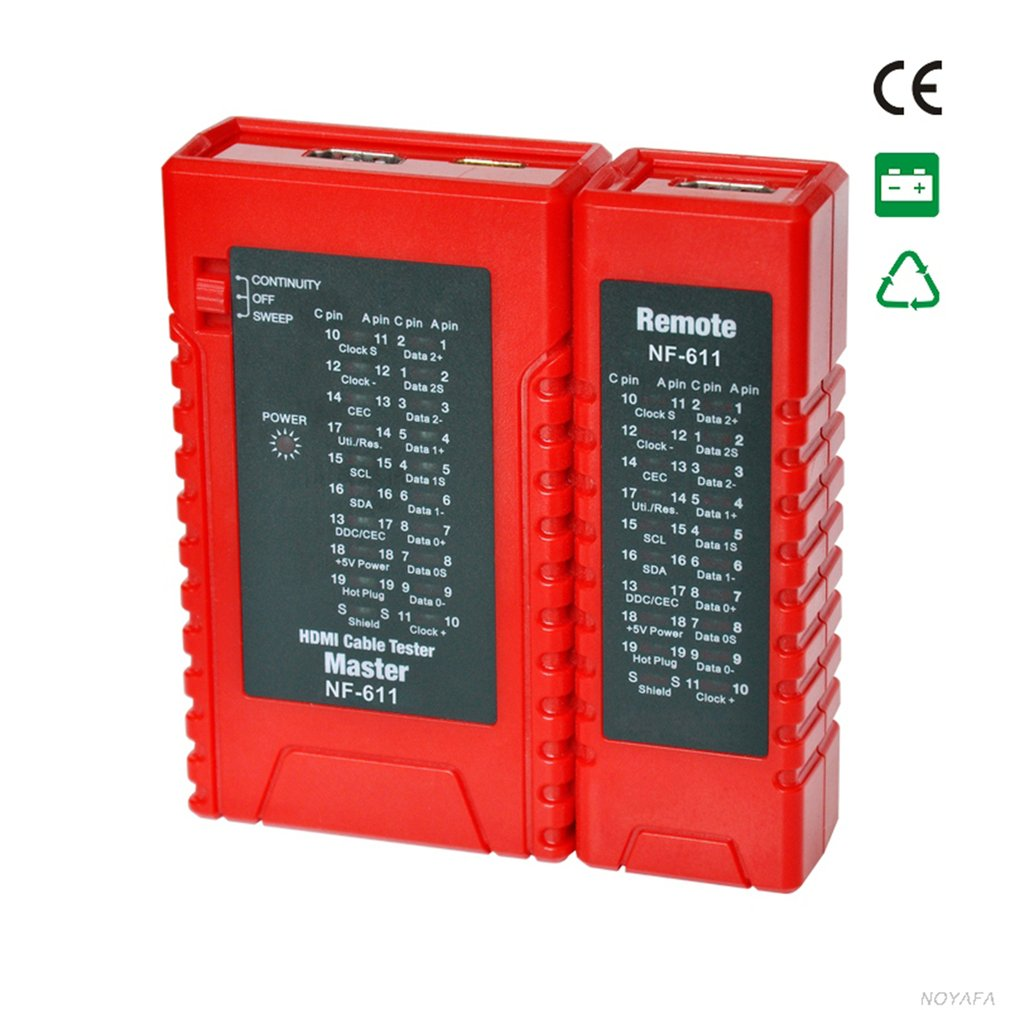 Nf611 High Definition Cable Tester Diagnose Tracer Standard Hdmi Do All Wiring Schematic Item Specifics