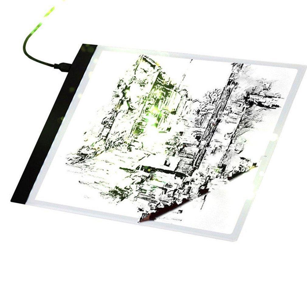 Dimmable USB A4 LED Light Box Tracing Board Art Stencil Drawing Pattern Pad Hot