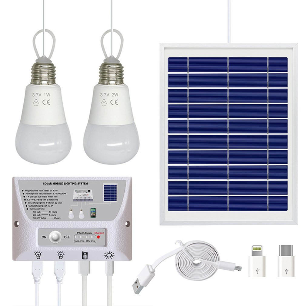 Details about Solar Light Photovoltaic Power Bank Phone Charging Portable  Solar System_#