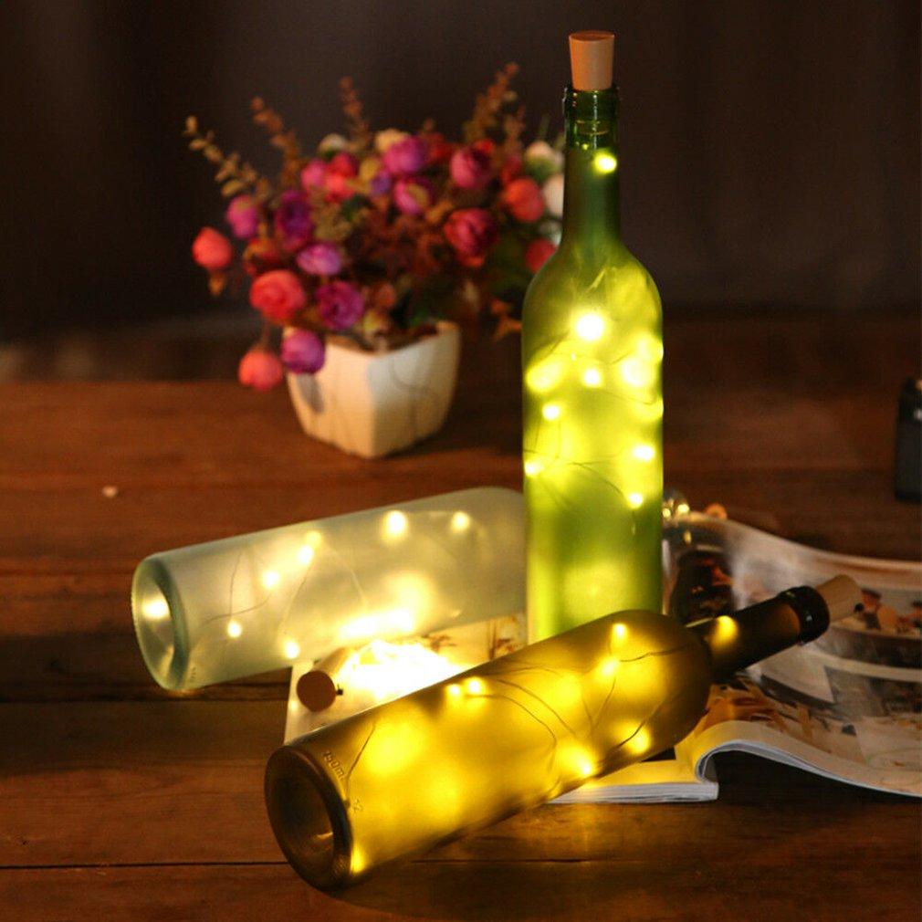 20LEDs Warm White LED Cork Wine Bottle Lamp Fairy String Light Stopper 78.75in@@