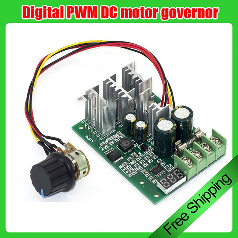 1 Pc Digital Pwm Dc Governor Motor Switch Disk 30a 6v 12v 24v Gt Control Circuits A Speed Circuit 48v
