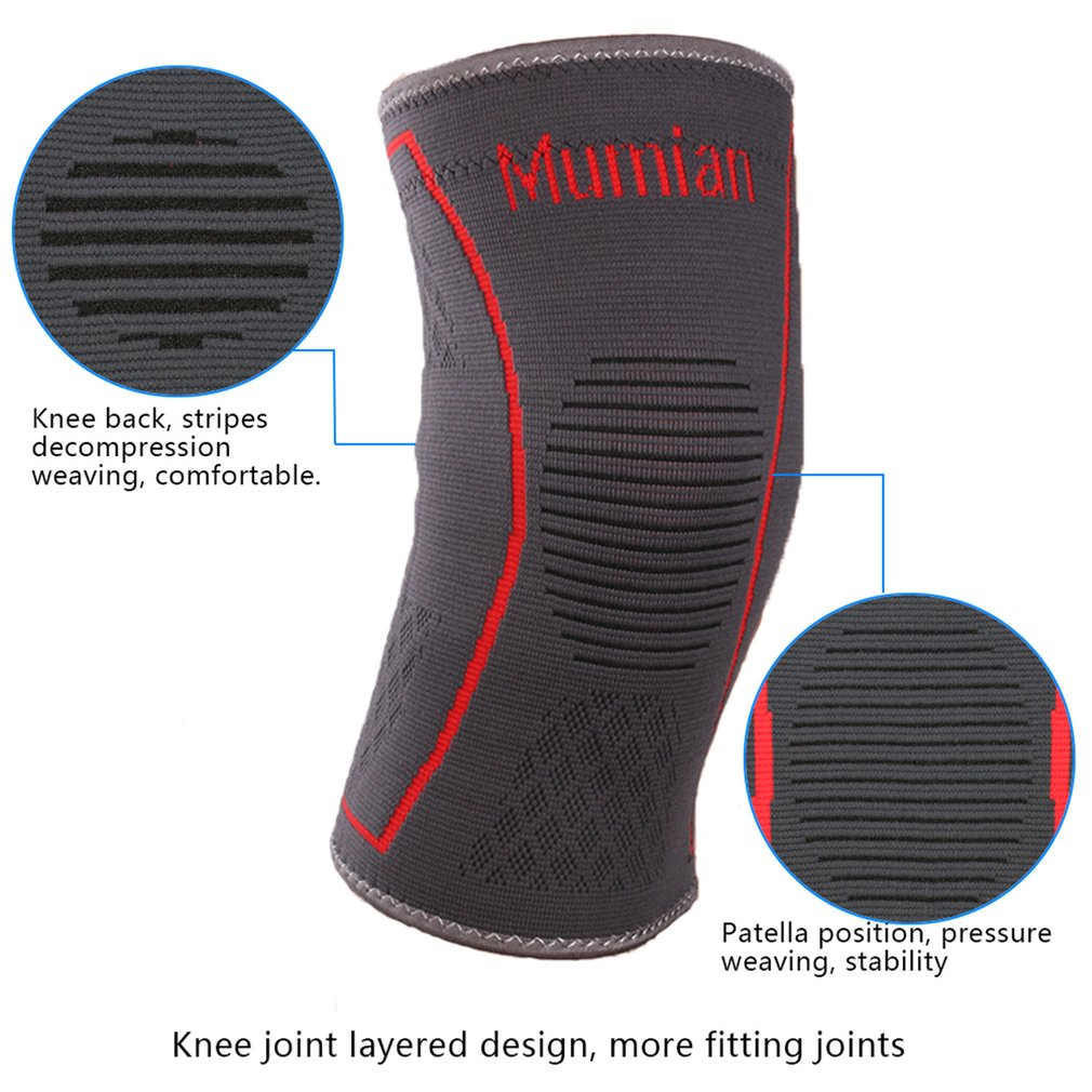 53d6ba4daf Knee Support Brace Single Wrap Compression Sleeve Stabilizer for Arthritis  Meniscus Patella Protector Running Men Women