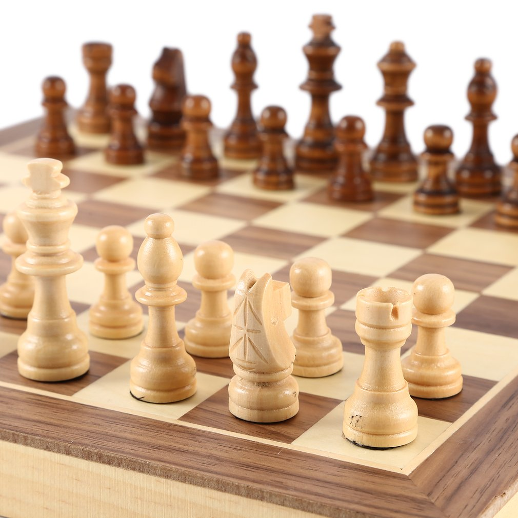 International Chess Set Teaching Competition Chessman Solid Wood