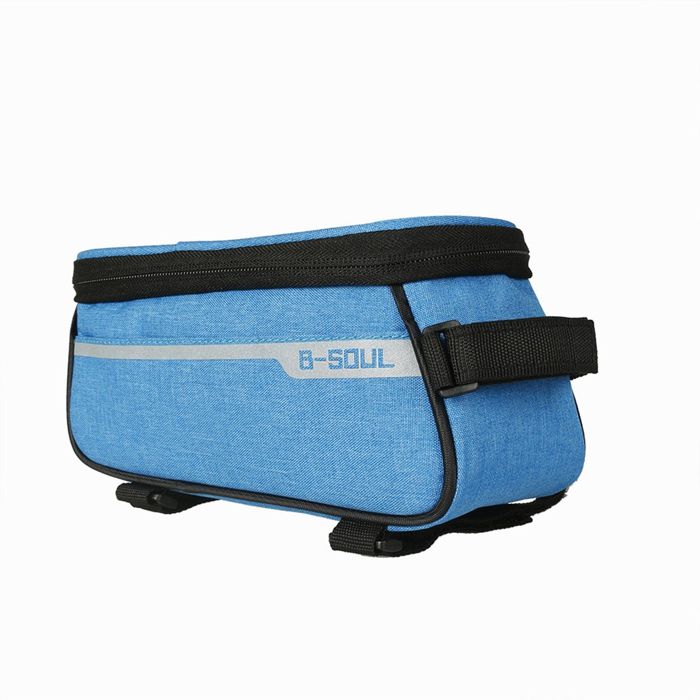39a92f2fd16e Bicycle Bag Touch Screen Bag Cycling Bike Frame Phone Bag Front Tube ...
