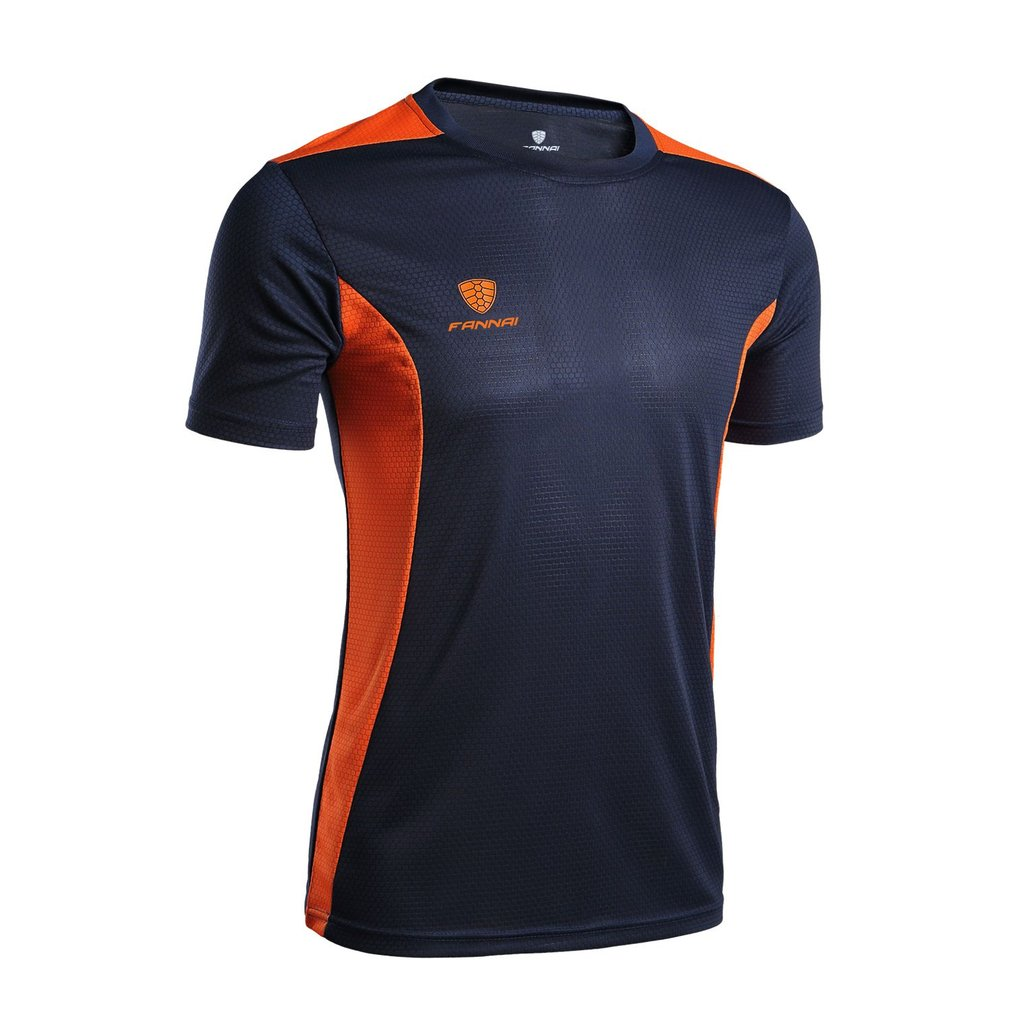 24939cd5998 Details about Men T-Shirt O-neck Sports Top Quick Dry Moisture-Wicking Gym  Shirts FN24 JZ