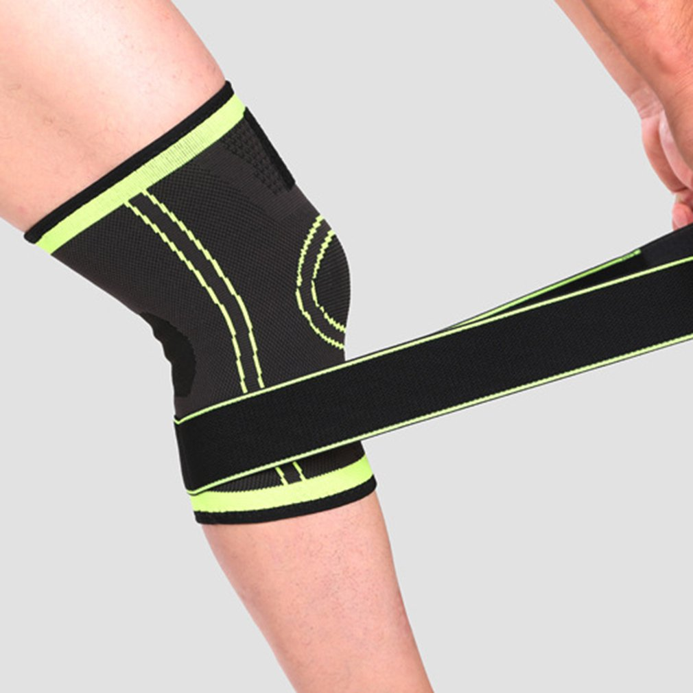 4f0241cad7 3D Weaving Pressurization Knee Brace Hiking Cycling Knee Support Knee Pad W0