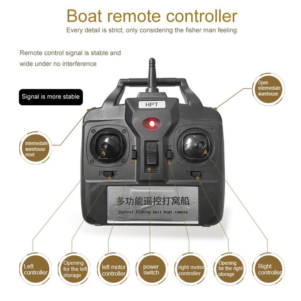 Wireless Fishing Bait Rc Boats Double Motors 500m Remote Fish Finder Radio Controlled Electric Motor Switch R C Searchlight