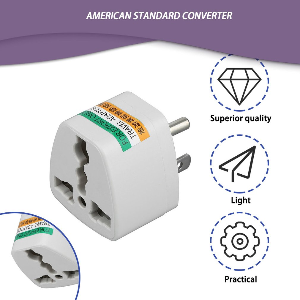 AU US UK To EU Power Connector Travel Adapter Converter Outlet Wall Plug
