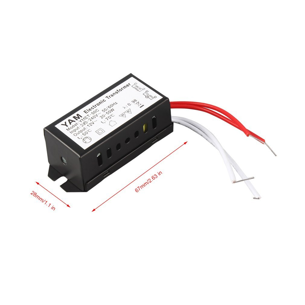 New Ac 220v To 12v 20 50w Halogen Lamp Electronic Transformer Led Short Circuit Electronics For Low Voltage Protective Overload Over Treiber