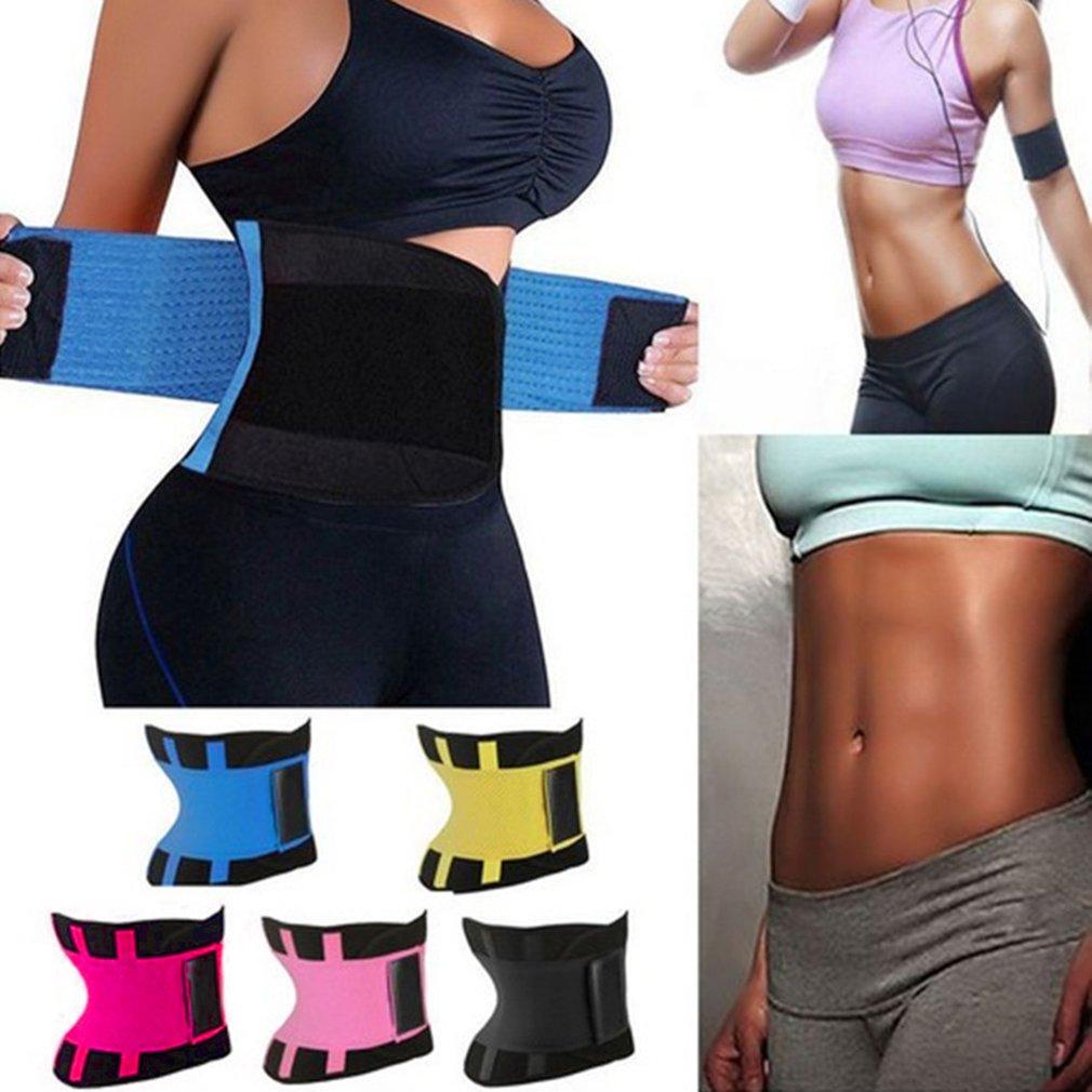 Details about  /Gym Waist Trainer Body Shaper Slimmer Sweat Belt Tummy Control Cincher Girdle US