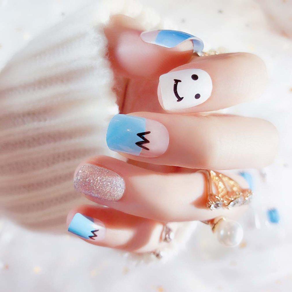 Kawaii Cute Short False Nails Acrylic Nail Art Supply Artificial ...