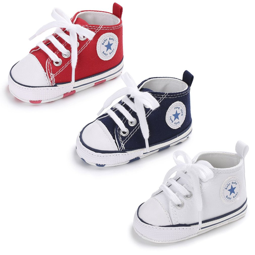 97fbd278881fd Fashion Soft Soled Anti-slip Infant Canvas Shoes Baby Boys Girls Prewalker  WQ