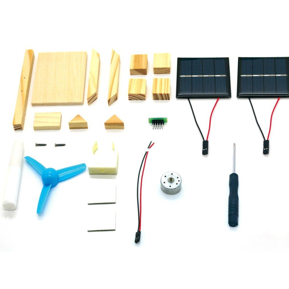 Diy Solar Fan Model Assemble Building Kits Science Experiment Toys Electronic For Kids G9