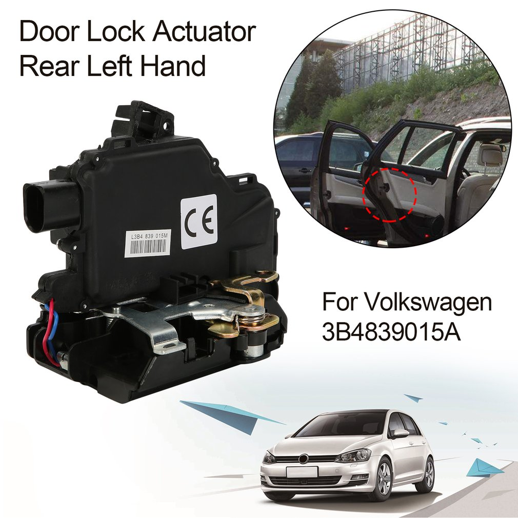 Door Lock Actuator Rear Left Hand Driver Side Replacement For Volkswagen  For Passat For Golf 4 For Seat For Skoda 3B4839015A