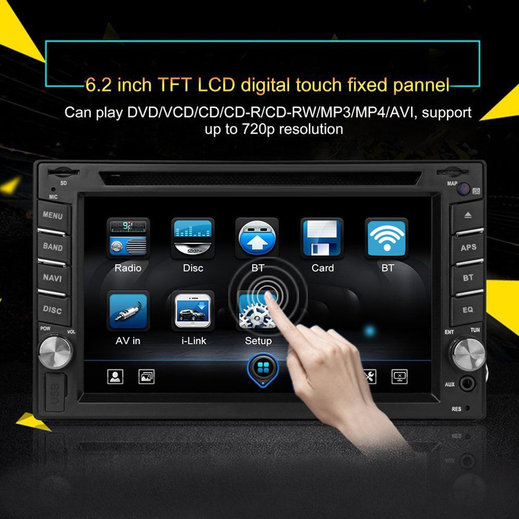 6 2 car stereo carplay autoradio dvd player radio touch screen for ios apple nu ebay. Black Bedroom Furniture Sets. Home Design Ideas