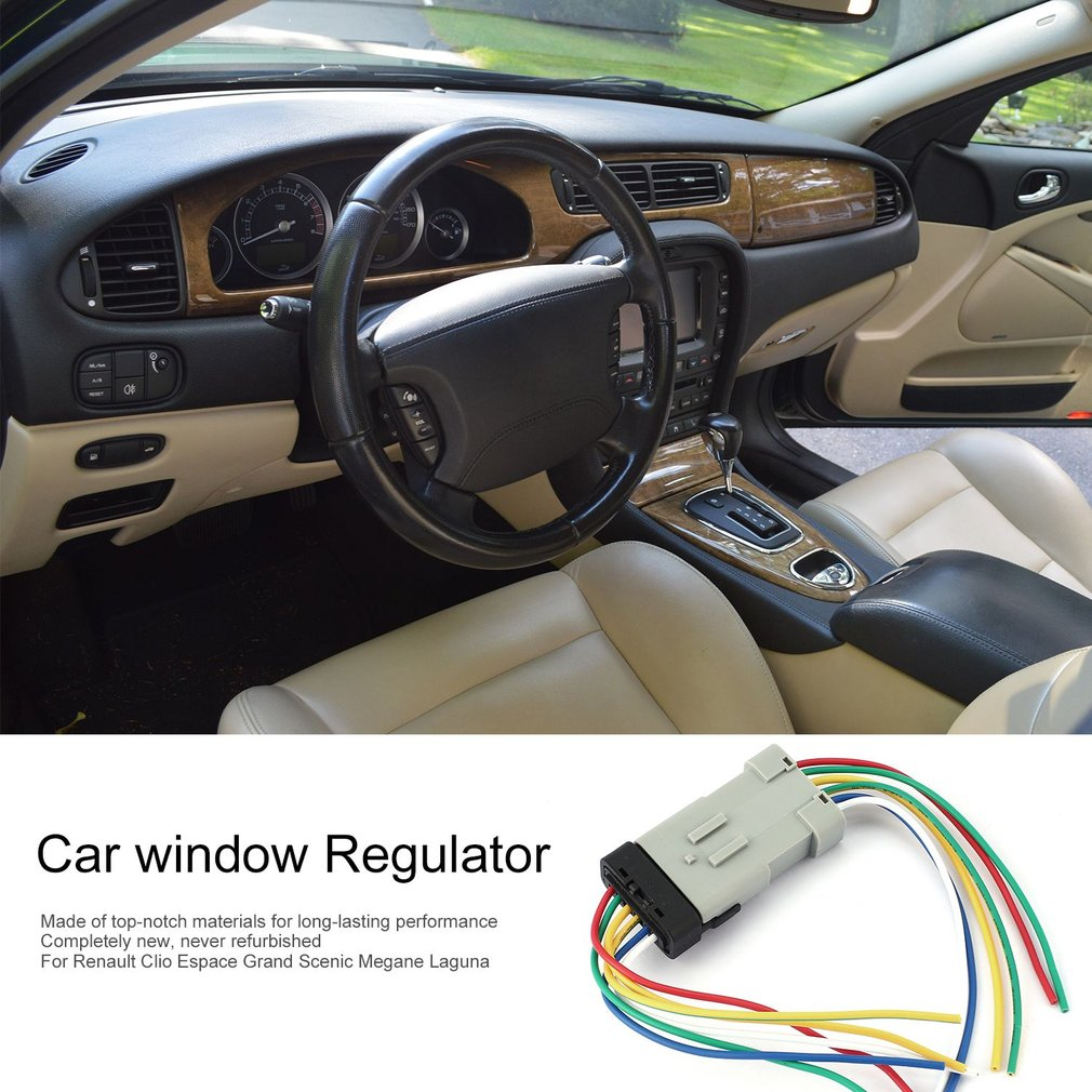 1 Set Window Regulator Module Wiring Harness Plug For Renault Clio 3 Wire Repair Grand Megane