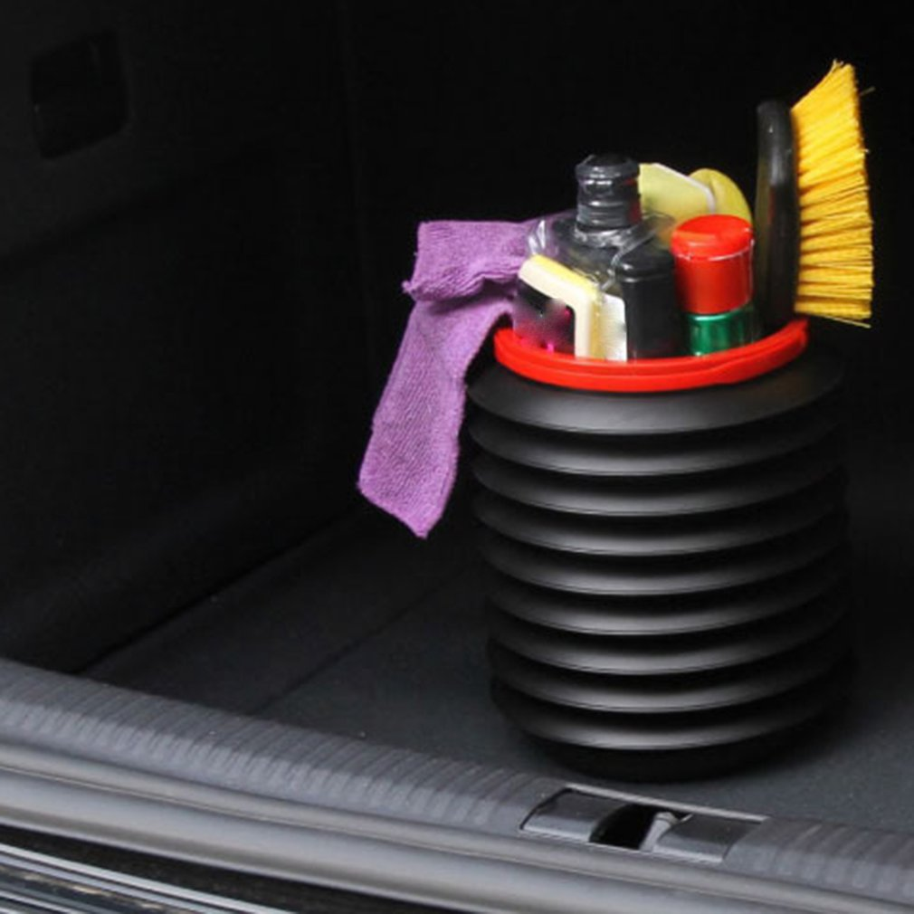 Car Trash Can 4L Folding Bucket Magic Telescopic Storage Box Plastic Bucket BI