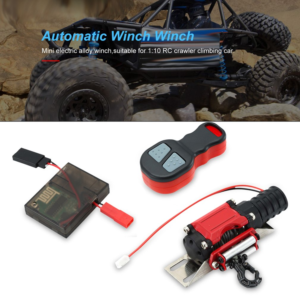 RC Crawler Car Parts Winch Wireless Remote Control Receiver Set For Traxxas Hsp