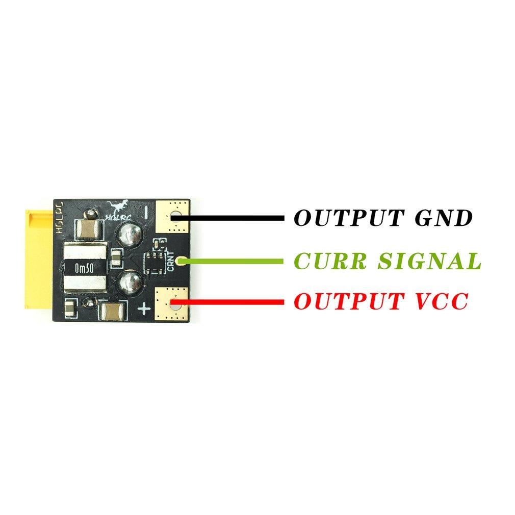 Hglrc Amass Xt60 252v 6s 120a Current Sensor Meter For Rc Fpv Detector Circuit Racing Drone Pz