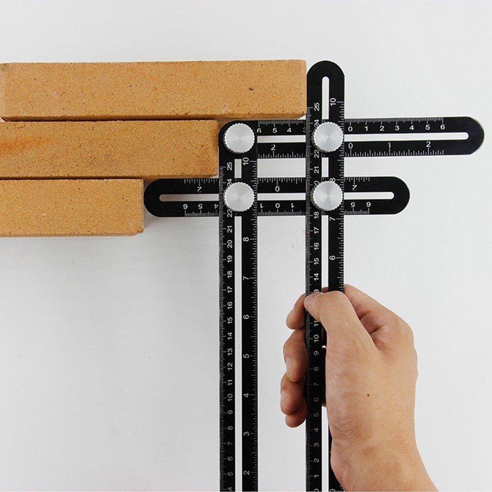 Universal Aluminum Alloy Multi Angle Measuring Six-Fold Ruler Positional Locator