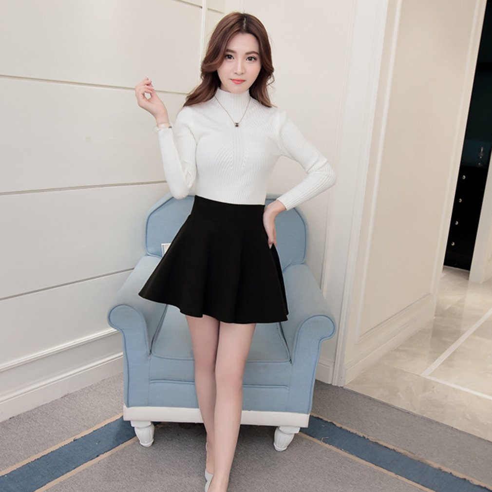 d4ddade47b Women Fashion Solid High Waist Pleated Skirt A-Line Short Mini Skirt Dress  AU