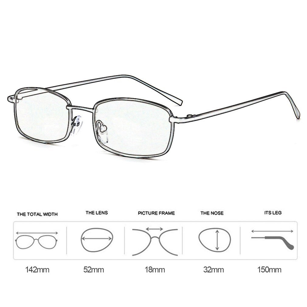 9746ad5052 Trendy Cat Eyes Sunglasses Rectangle Metal Frame Sunglass Clear PC ...