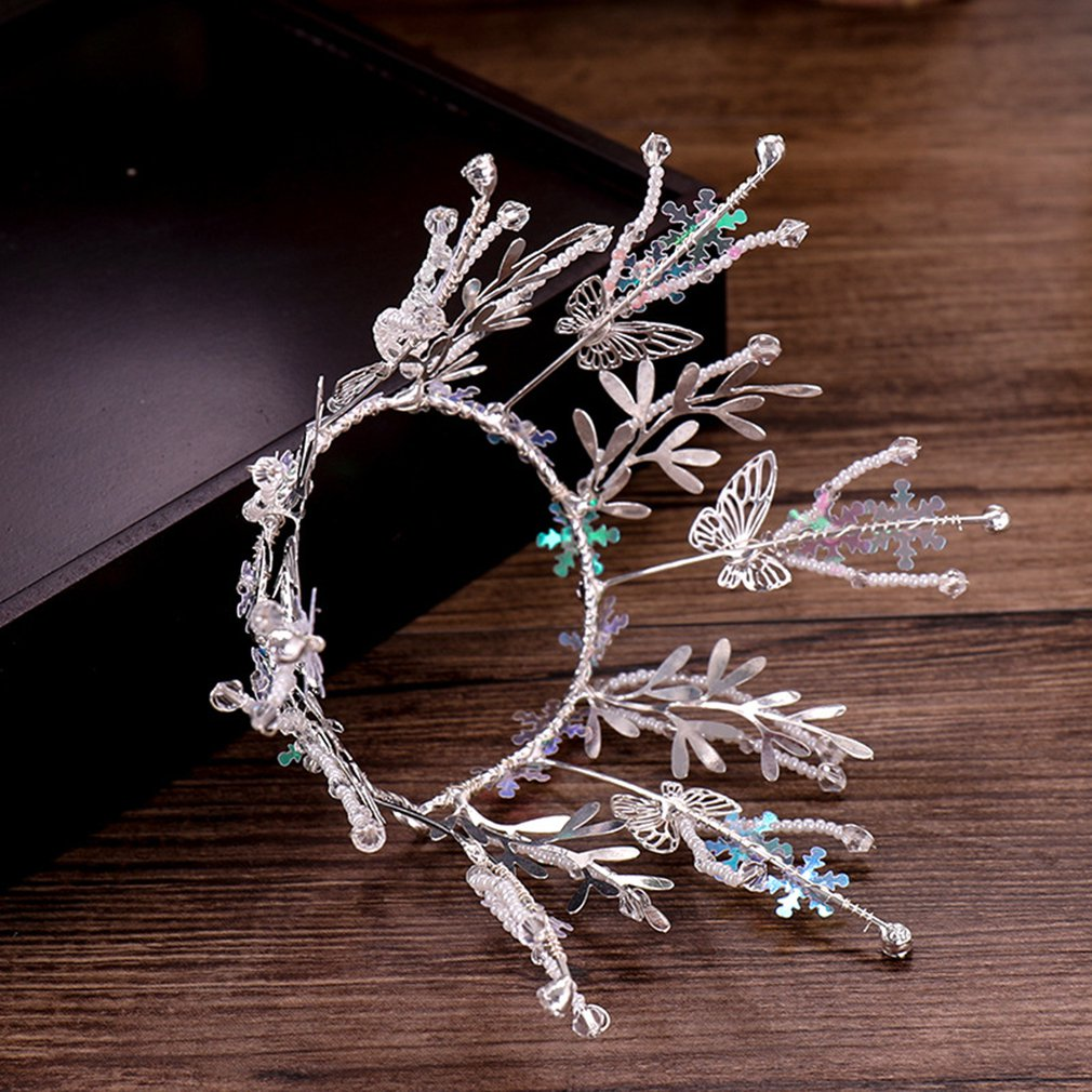 Baroque Style Elegant Wedding Bridal Alloy Crown Headband Hair AccessoryH0
