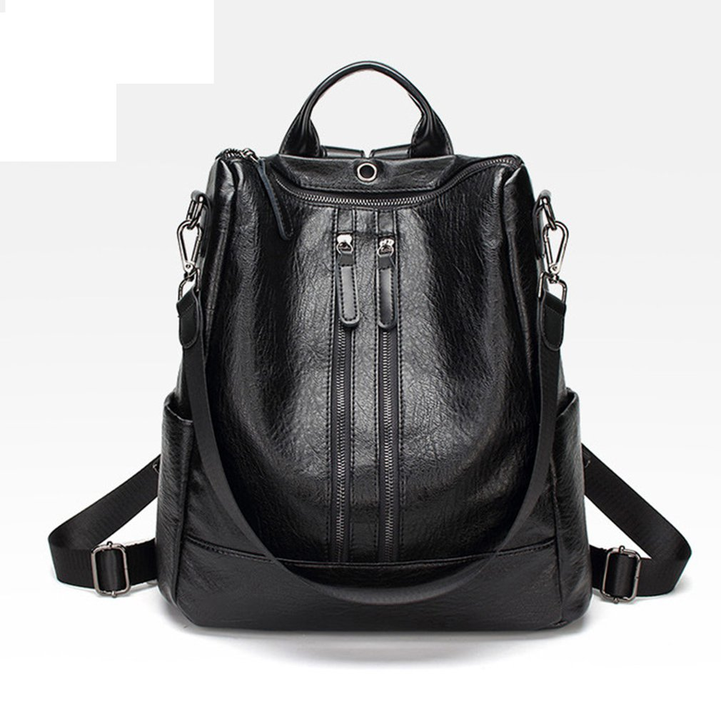 82628b60bfd4 Korean Style Fashion Women Backpack PU Leather Shoulder Bag Casual ...
