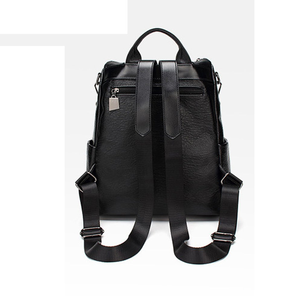 154ef8875e99 Korean Style Fashion Backpack PU Leather Cross Body Messenger Bag All-match  Casual Travel Bag for Women