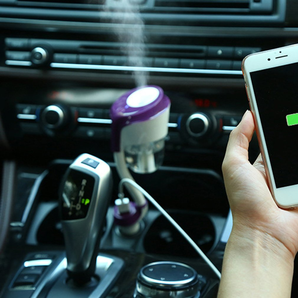 12v Car Air Humidifier Purifier Freshener Usb Charger Essential Oil Nanum Ii Aromateraphy With 2 Port Diffuser Ib