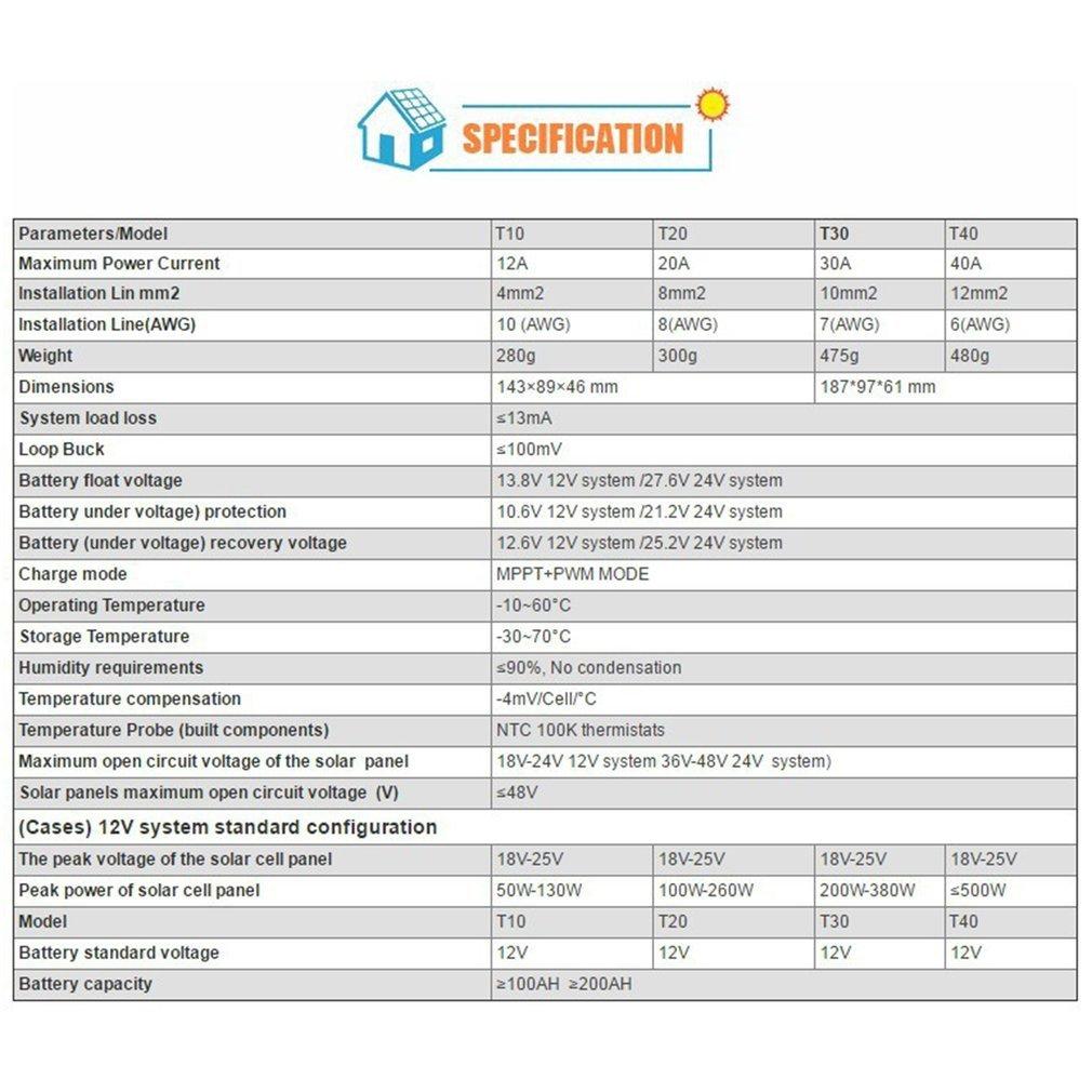 Lcd Display 12v 24v Mppt Solar Panel Regulator Charge Controller 3 Specifics Timer Cr