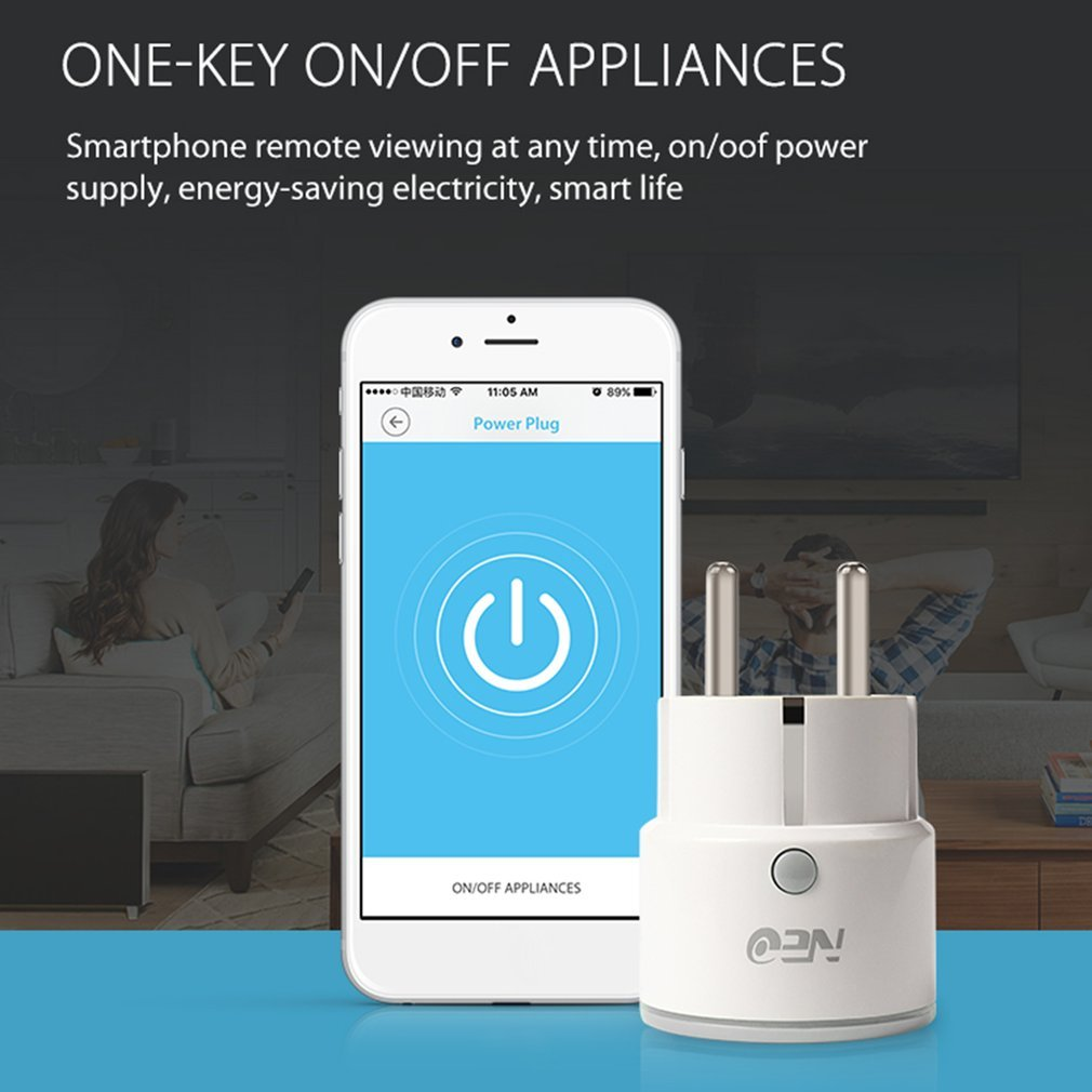 Wifi Smart Plug Eu Socket App Remote Control Home Automation With Figure 1 Schematic Of The Simple 4channel Onoff Timer Rt