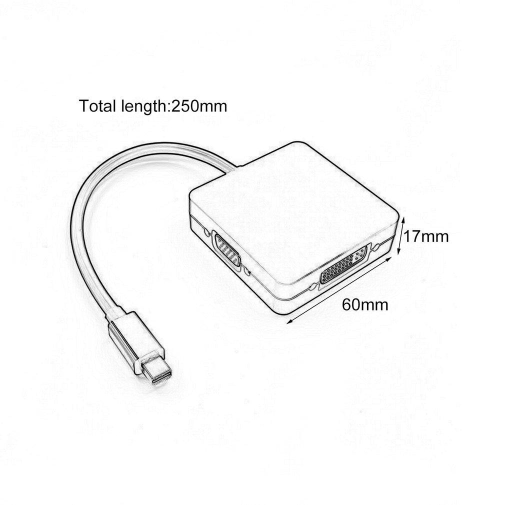 3 in 1 mini displayport to hdmi  dvi  vga display port cable