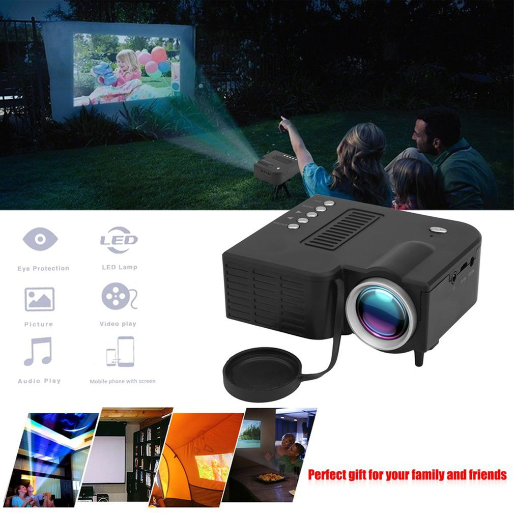 UC28B HD 1080P Mini LED Projector with USB TV AV For Home